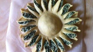 Repeat youtube video Brioche Girasole rustico con spinaci e ricotta,ricetta facile e veloce