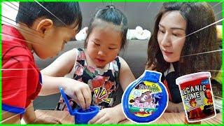 ของเล่นยอดฮิต!! สไลม์ตด - สไลม์ภูเขาไฟหิมะ Slime Review - children toy - TOON STORY