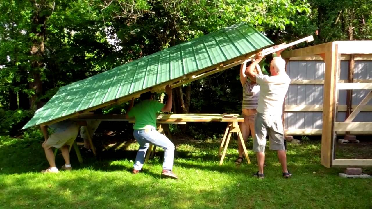 how to raise a shed