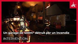Un garage de 400m² détruit par un incendie à Montfermeil