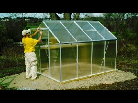 Harbor Freight Greenhouse UNBOXING U0026 Setup Hot House Container Garden  Palram Gardman