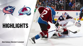 NHL Highlights | Blue Jackets @ Avalanche 11/09/19