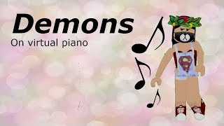 Demons - Cover na virtual piano by me c: