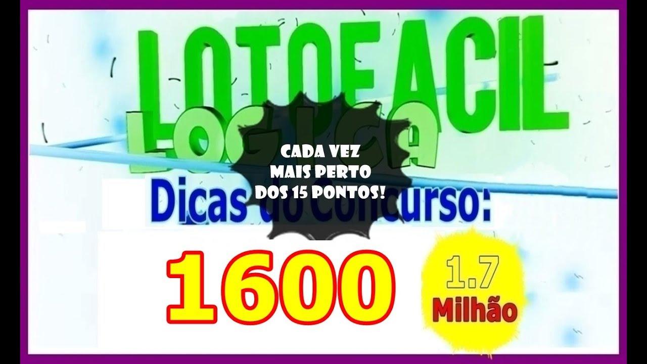 🔴 Dicas Lotofacil 1600  🍀 Palpite numeros quente Rumo aos 15 pontos #1