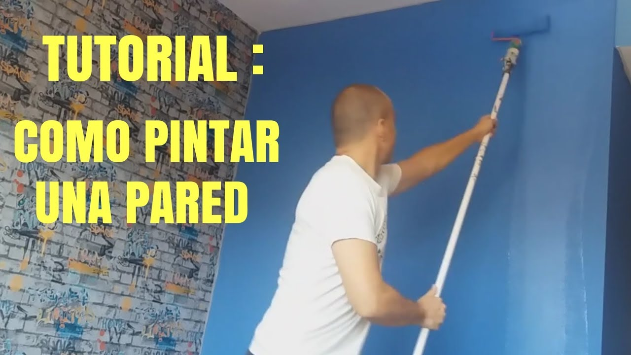 Como Pintar Una Pared Interior Con Rodillo Youtube