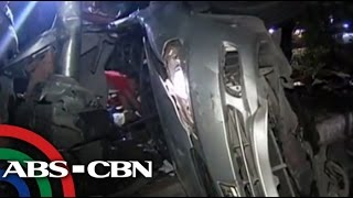 7 injured as car hits motorcyle, post along Quezon Avenue