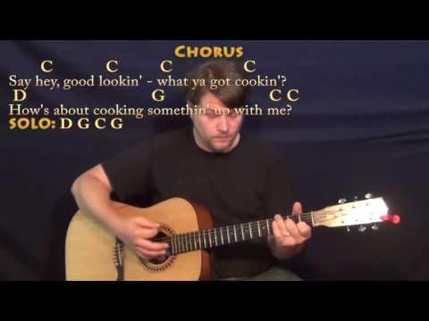 Hey Good Lookin' (Hank Williams) Guitar Lesson Chord Chart with Lyrics