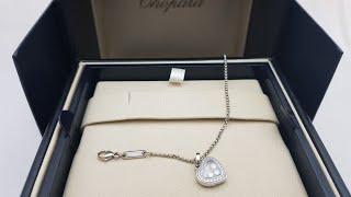 Обзор ювелирного украшения Chopard Happy Diamonds подвеска 794502-1001 белое золото с бриллиантами!