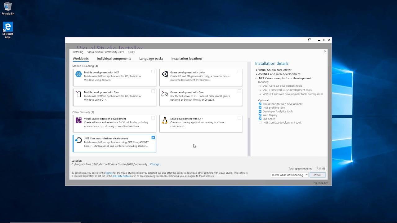 ASP NET Core web app with Entity Framework & Visual Studio