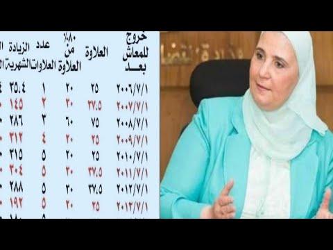 عاجل: وزيرة التضامن تعلن موعد صرف العلاوات الخمسه وننفرد بنشر قيمة العلاوات والمستحقين
