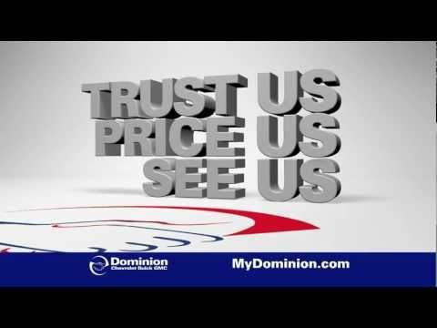 """Dominion Chevrolet - Silverado """"Trust Us. Price Us. See Us."""" Sale"""