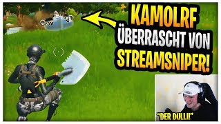 Kamolrf wird von einem Streamsniper überrascht ? | Trymacs trollt Random Duos!| Fortnite Highlights