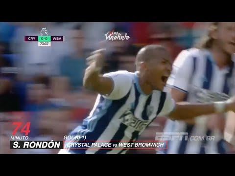 Salomón Rondón / Gol de Cabeza / Crystal Palace 0 - 1 West Bromwich Albion