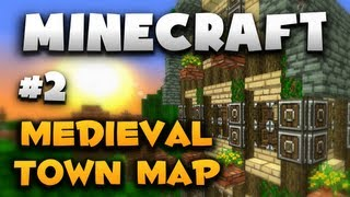 layout minecraft medieval village map cathedral epic