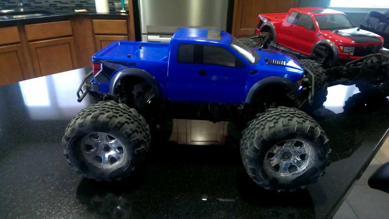 HPI Savage Flux HP - HPI Ford Raptor Body - YouTube