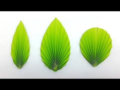 3 Easy DIY Paper Leaves making Instructions (Paper Leaf Pattern)