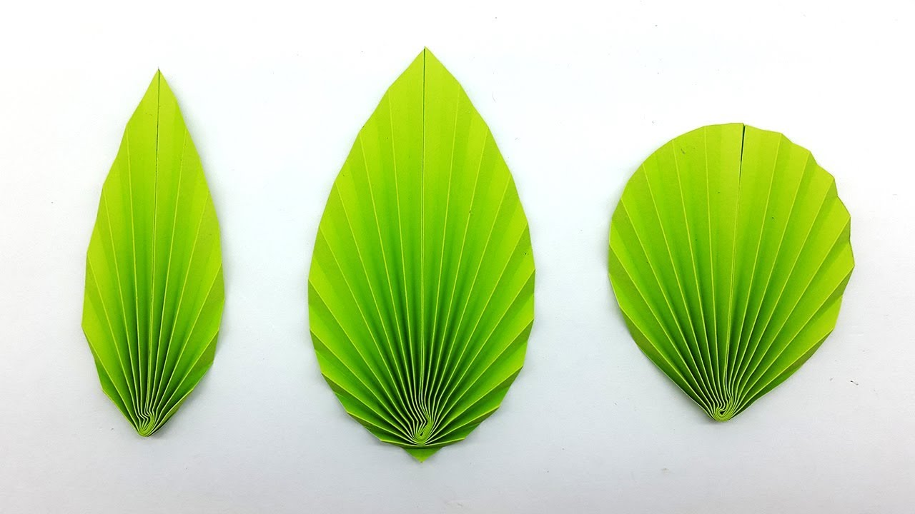 3 Easy Diy Paper Leaves Making Instructions Paper Leaf Pattern Youtube