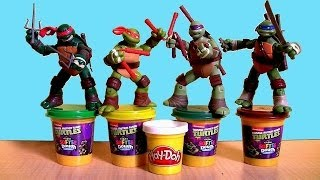 Play Doh Teenage Mutant Ninja Turtles Turtle Maker Surprise Egg by Nickelodeon TMNT Softee Dough