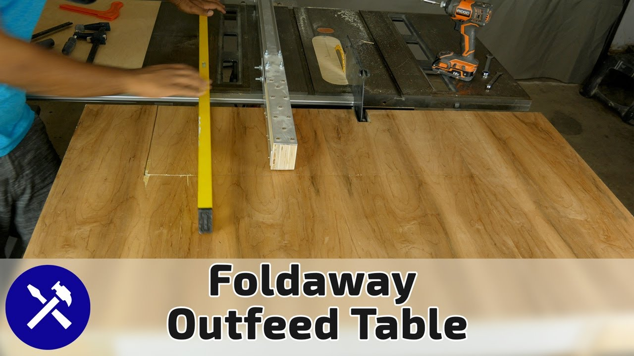 Folding Outfeed Table Upgrade For Your Table Saw On A Diy