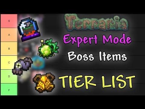 Expert Mode Boss Items TIER LIST // Terraria Comparison Series