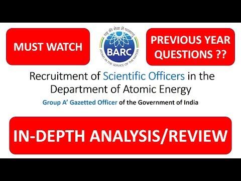 BARC 2018/2019 Preparation Strategy(Hindi)   Previous year questions? I Cutoff I Syllabus