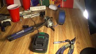 POSSIBLY DANGEROUS TEST WITH SKILL SAW MOTOR