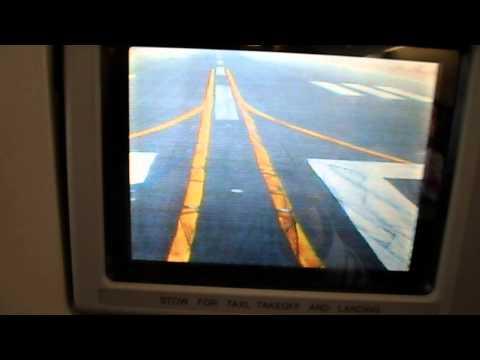 Emirates Airbus A330 takeoff nose gear camera (Dubai Interantional - OMDB) EK179