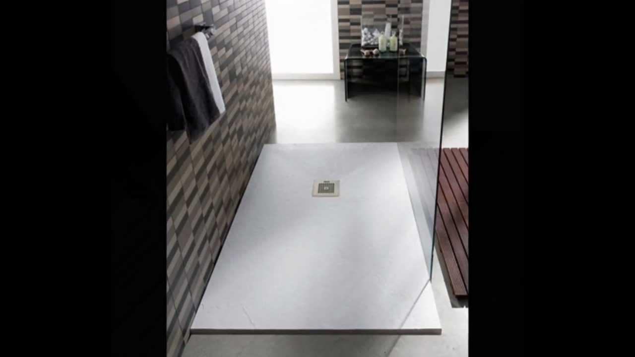 Tv100 plato de ducha antideslizante carga mineral granito for Ducha antideslizante