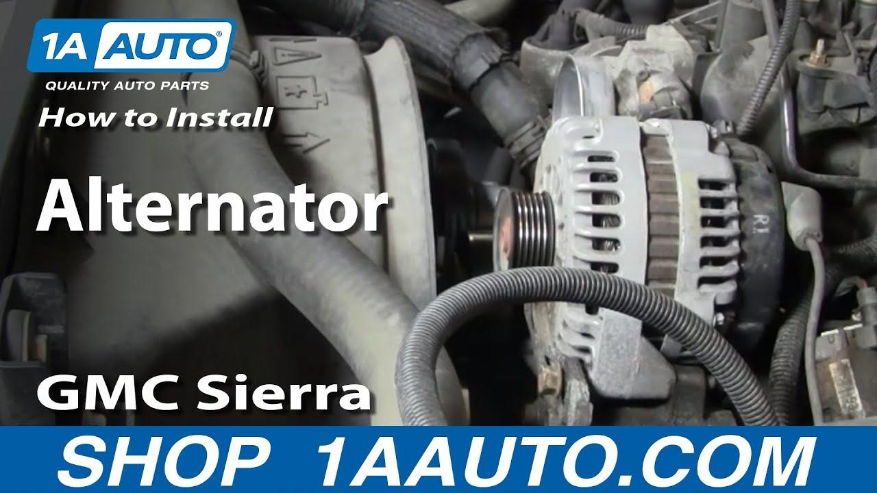 How To Install Replace Alternator Chevy Silverado Tahoe GMC Sierra Yukon 9902 1AAuto  YouTube