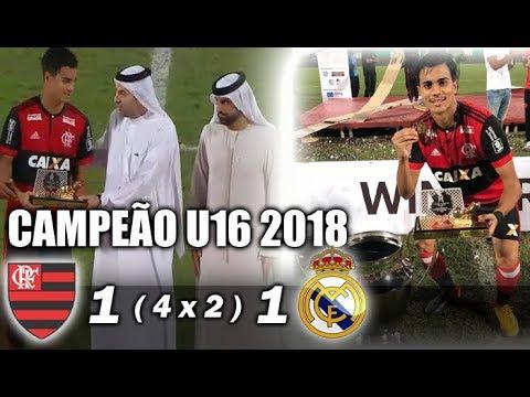 Flamengo 1 ( 4 x 2 ) 1 Real Madrid * Final do Campeonato Internacional de Dubai sub-16 2018