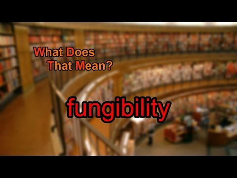 What does fungibility mean?