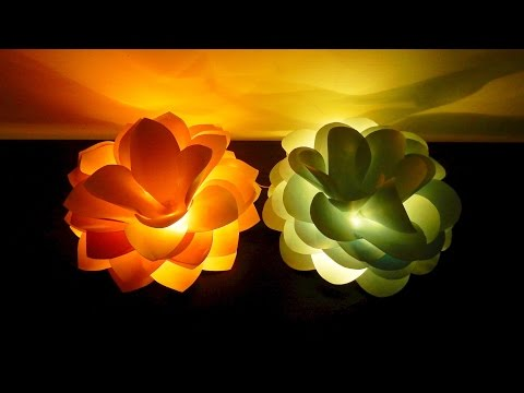 Giant flower lights DIY - how to make and light up giant paper flowers - EzyCraft