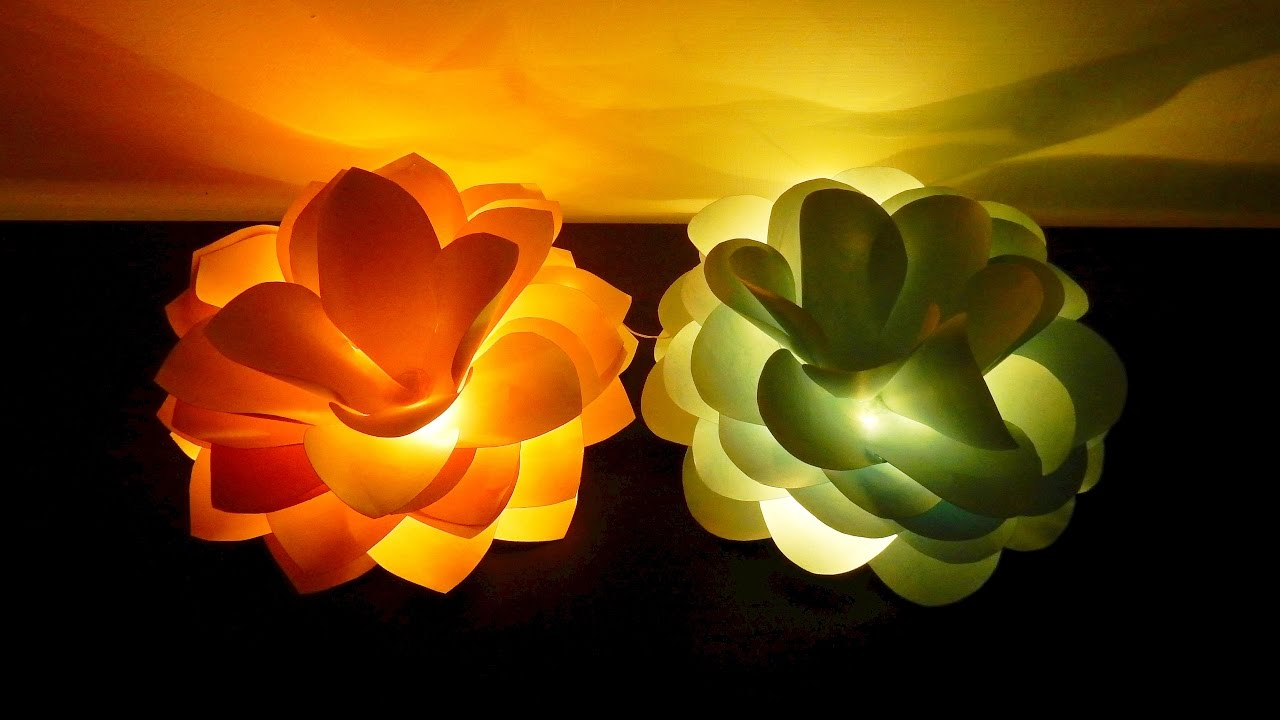 Giant Flower Lights Diy How To Make