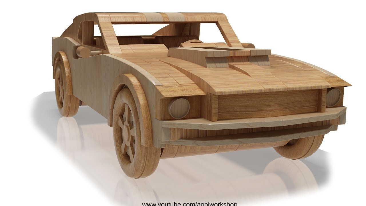 1969 ford mustang wooden toy plan preview