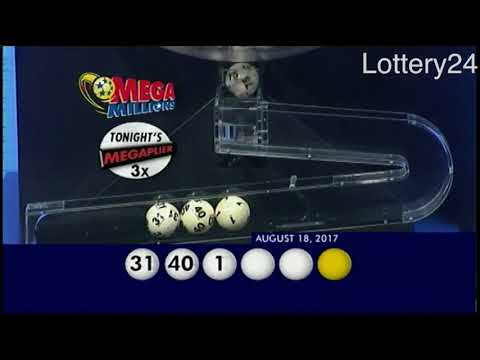 2017 08 18 Mega Millions Numbers and draw results