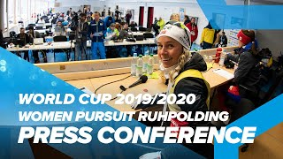 Ruhpolding Women Pursuit Press Conference