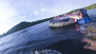 Boat Tubing On Caribou Lake