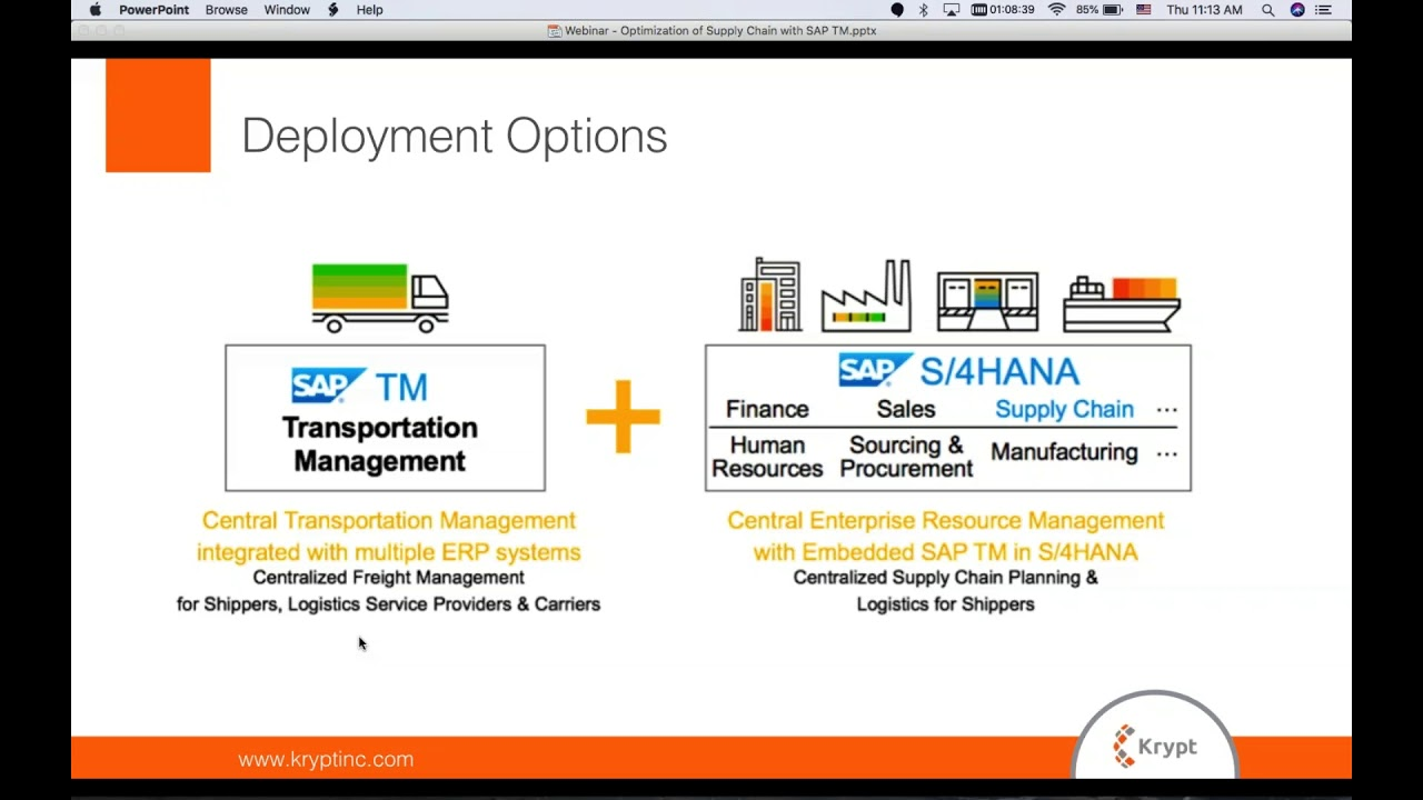 Optimizing your Supply Chain with SAP Transportation Management Webinar