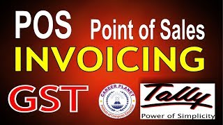Pos Invoicing with GST in Tally ERP 9 Part-42|Point of Sales Invoice in Tally GST
