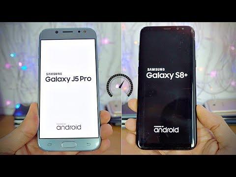 Samsung Galaxy J5 Pro (2017) vs Galaxy S8 - Speed Test! (4K)