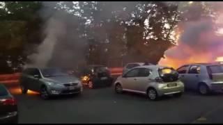 Roma, incendio Torino nord, l'intervento dei vigili