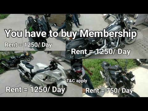 Super Bikes | Cheap | Rent | Hayabusa | Harley Davidson | Tilak Nagar | Delhi | Membership offer