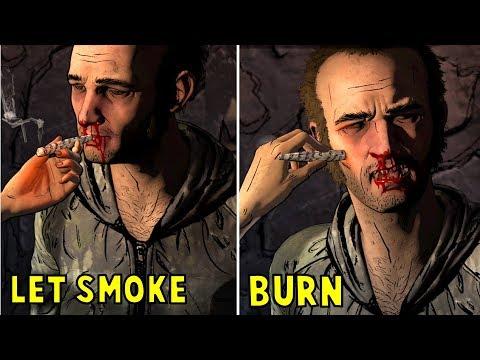 Clem Let Abel Smoke vs Burn Him - All Choices- The Walking Dead The Final Season Episode 3