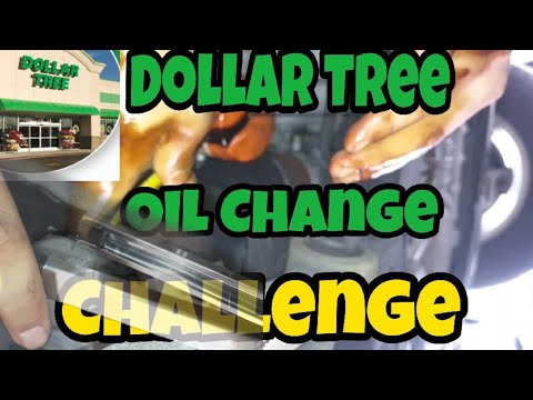 Motor oil change with Dollar tree items! Can it be done?!