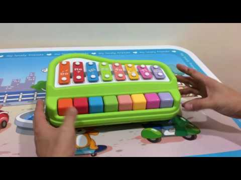 Musical Toys Xylophone and Piano 2in 1 Green and Red