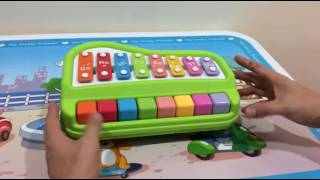 Musical Toys Xylophone and Piano 2-in 1 (Green and Red)