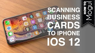 How to Add Business Cards to iPhone XS iOS 12 screenshot 5