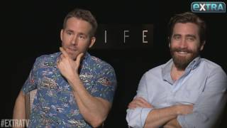 LOL! Ryan Reynolds & Jake Gyllenhaal Go Off the Rails in New 'Extra' Interview