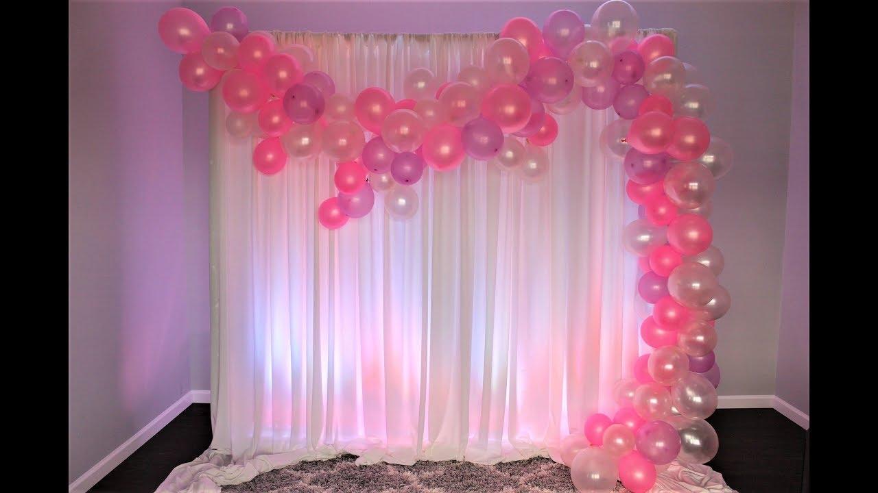 Balloon Garland Diy Youtube