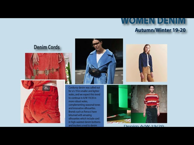 WOMEN DENIM FASHION TRENDS AW 19-20